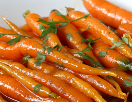 maple + brown butter carrots // easter menu