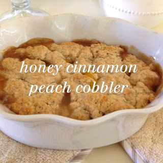 honey cinnamon peach cobbler