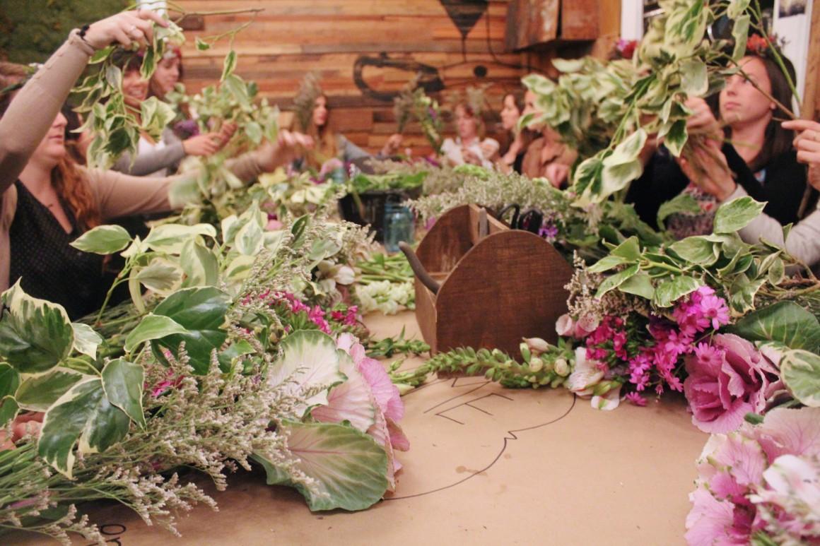flower arranging class!