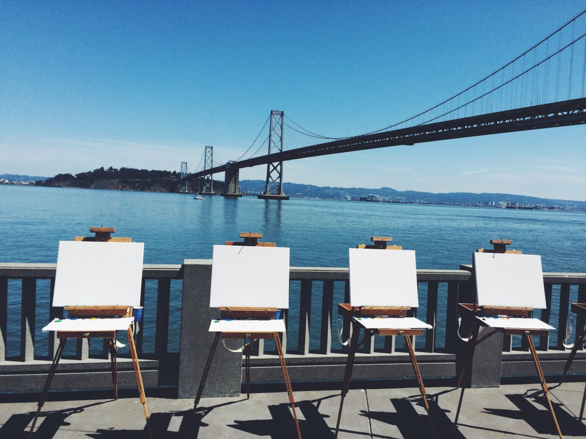 a painting class on the embarcadero