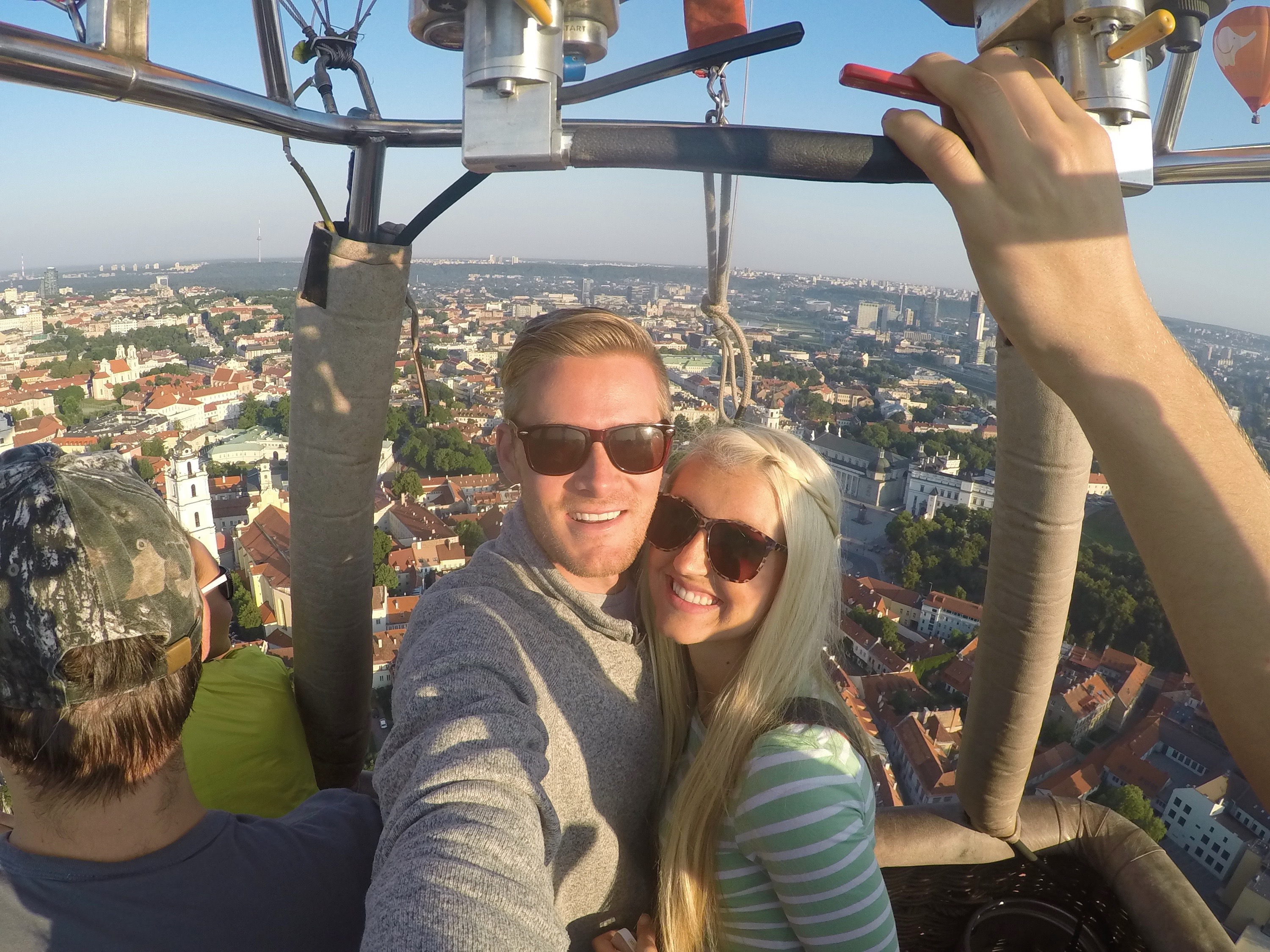hot air ballooning over lithuania!