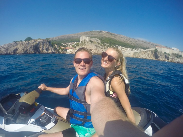 jet skiing in the adriatic