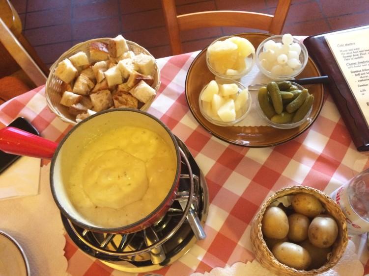 swiss cuisine: fondue + raclette