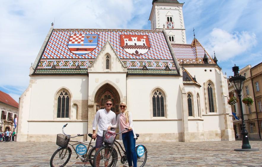 bike touring through zagreb