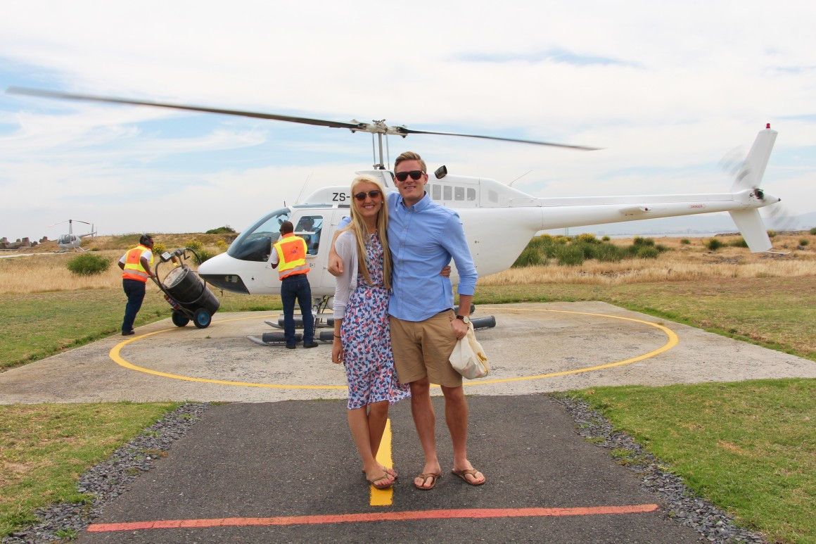 helicopter flight above cape town!