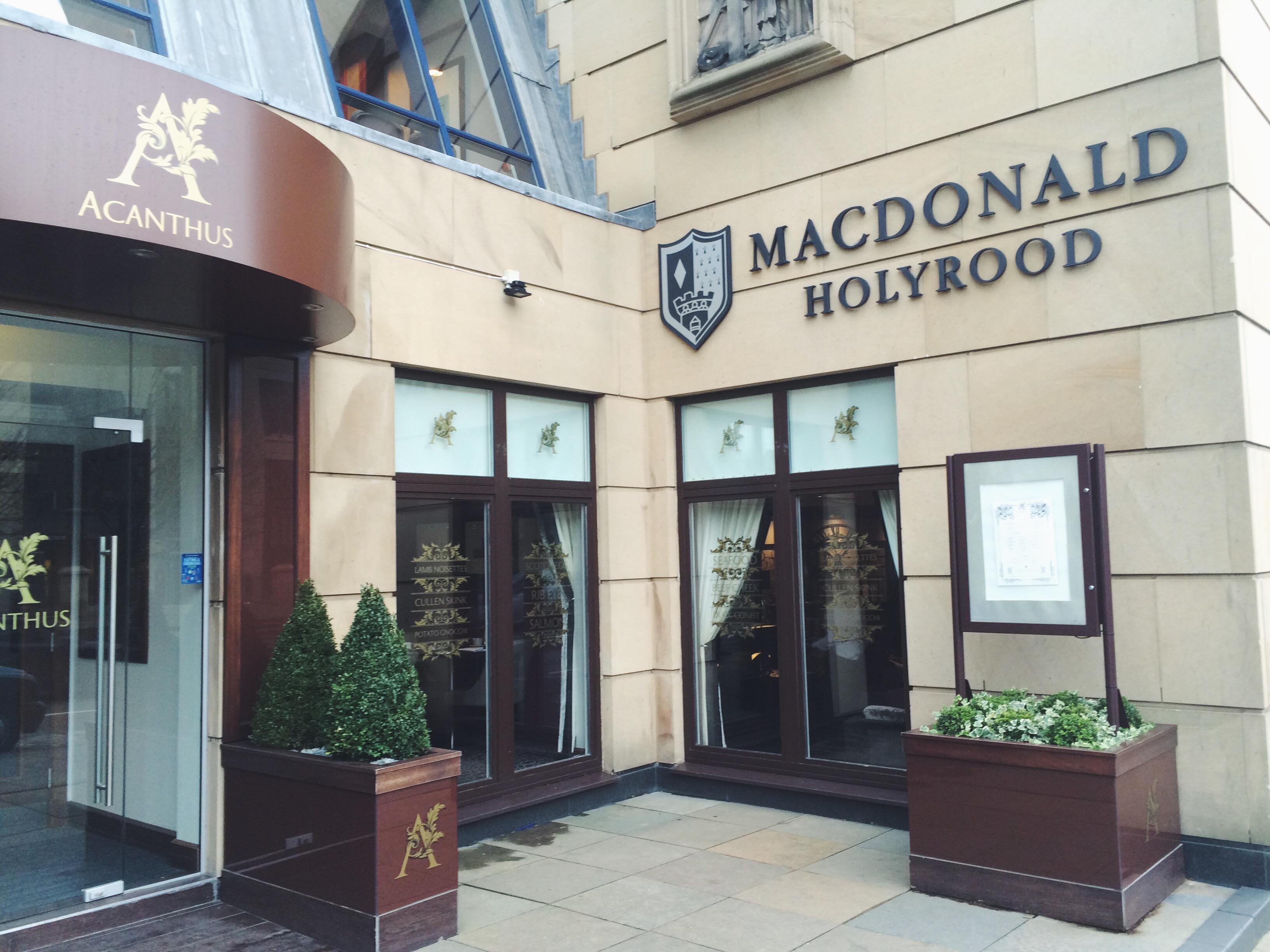 Checking into the Macdonald Holyrood Hotel, Edinburgh