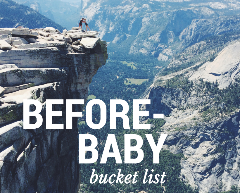 before baby bucket list