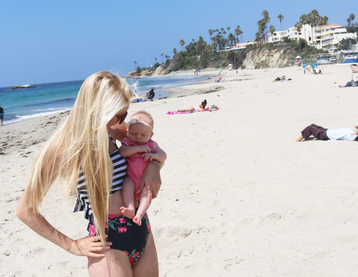 Laguna Beach with baby