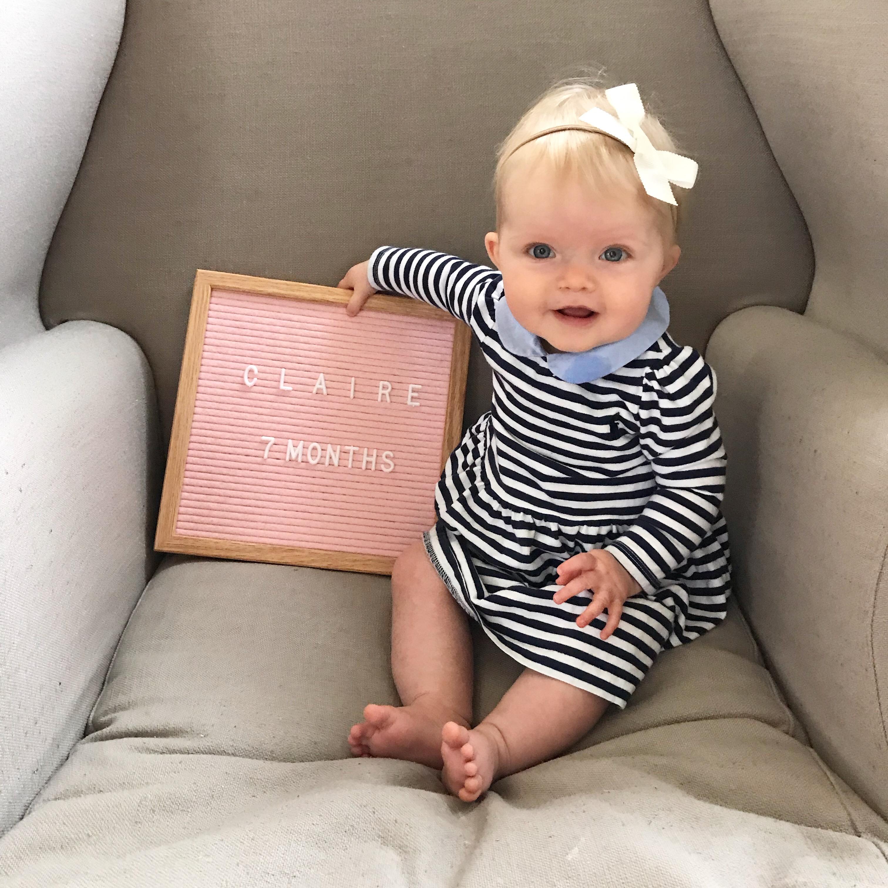 claire 7 months!