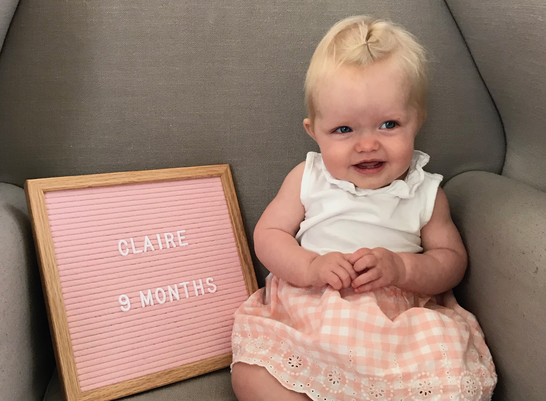 claire 9 months!!