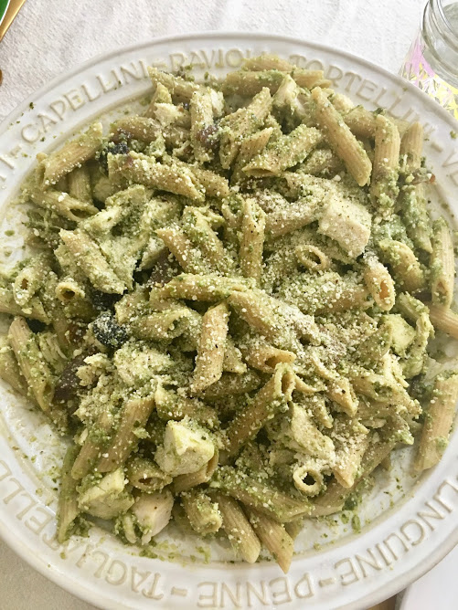 Pesto pasta, two ways