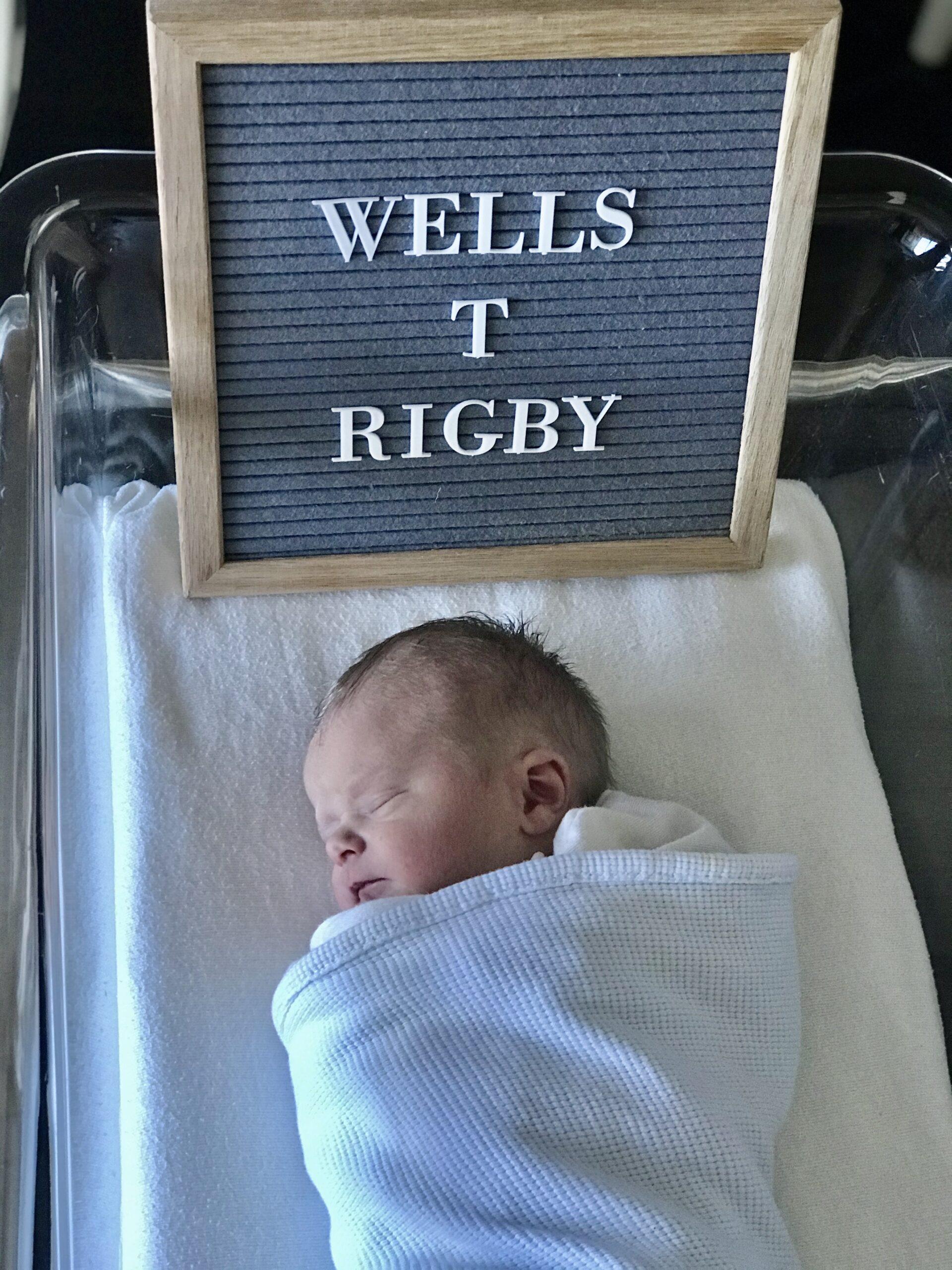 welcome baby wells