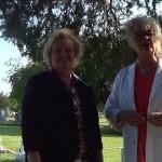 dr graveyard and charlene orr 2013 moonlight meander cemetery tour(1)