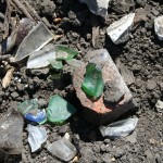 st mary cemetery assortment of glass in plowed field