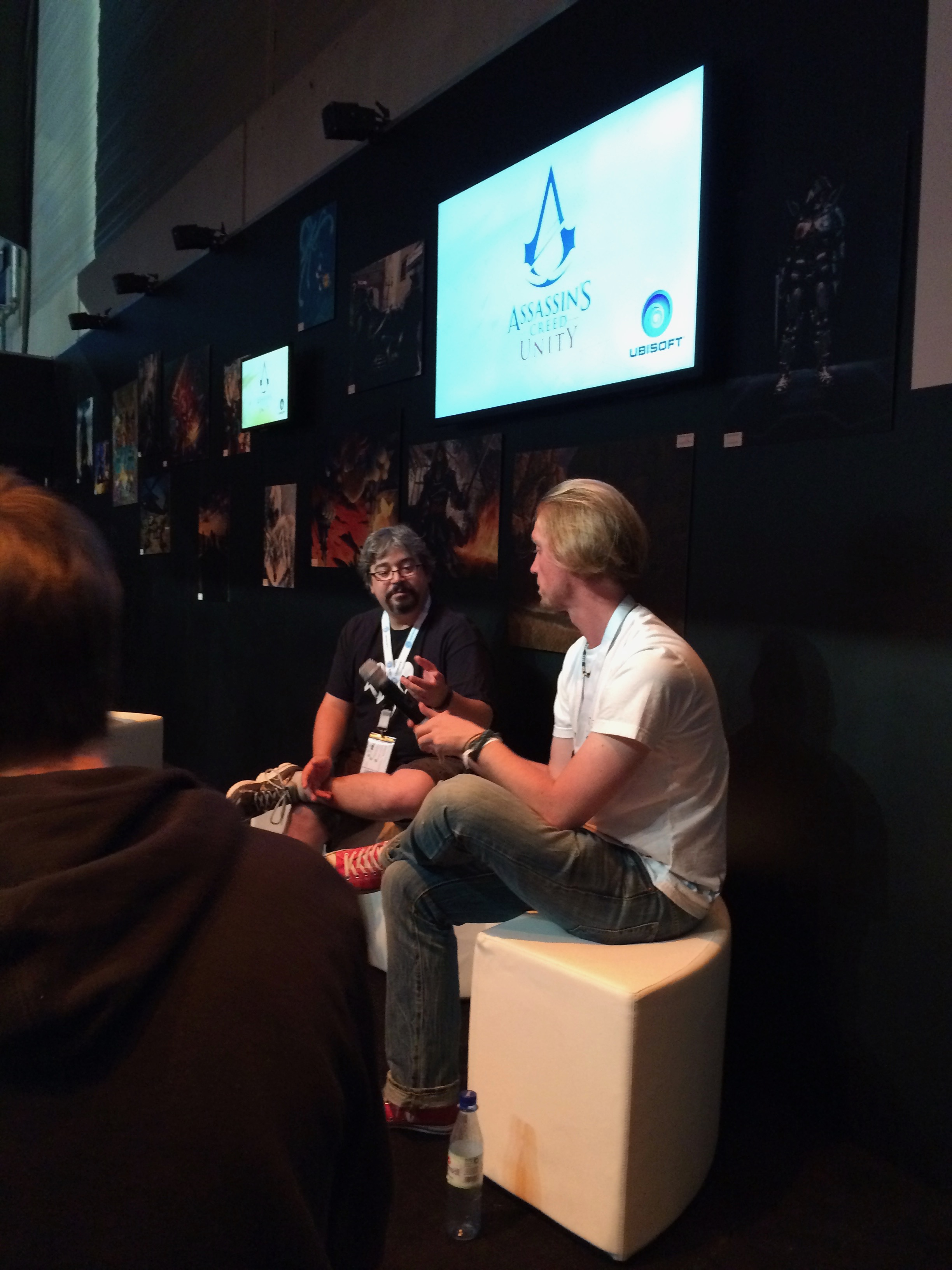 Gabe and Benjamin during Assassin's Creed: Unity Q&A