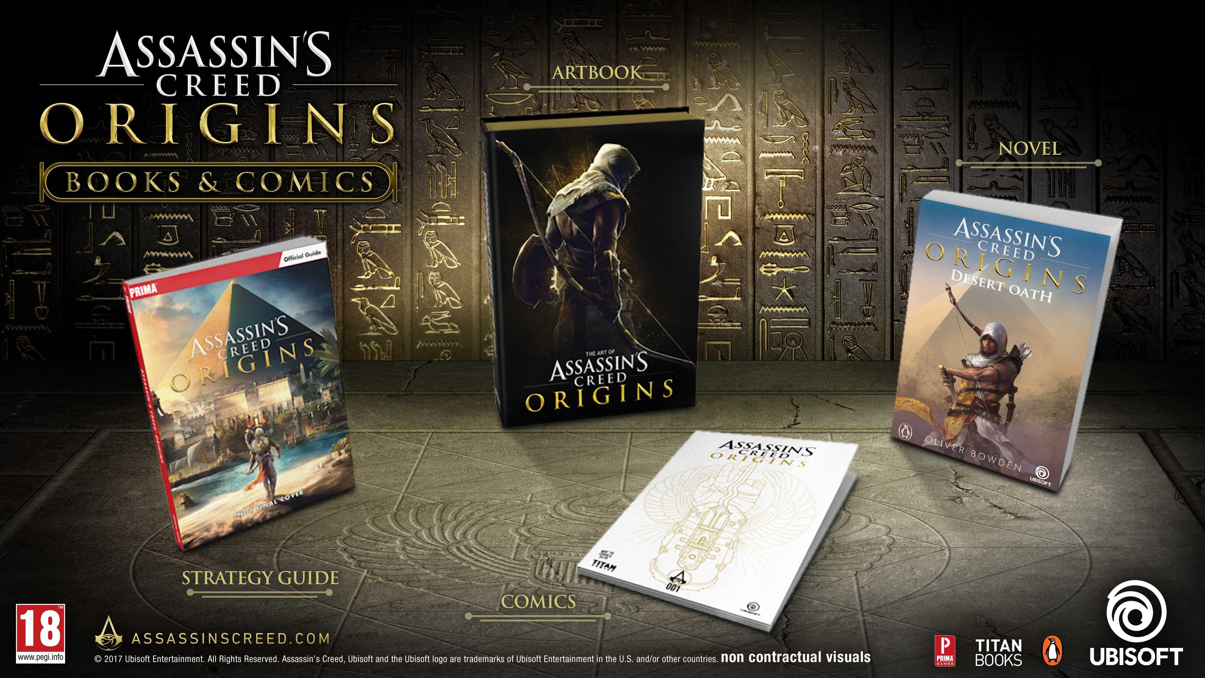 Ubisoft Unveils Four Origins Books