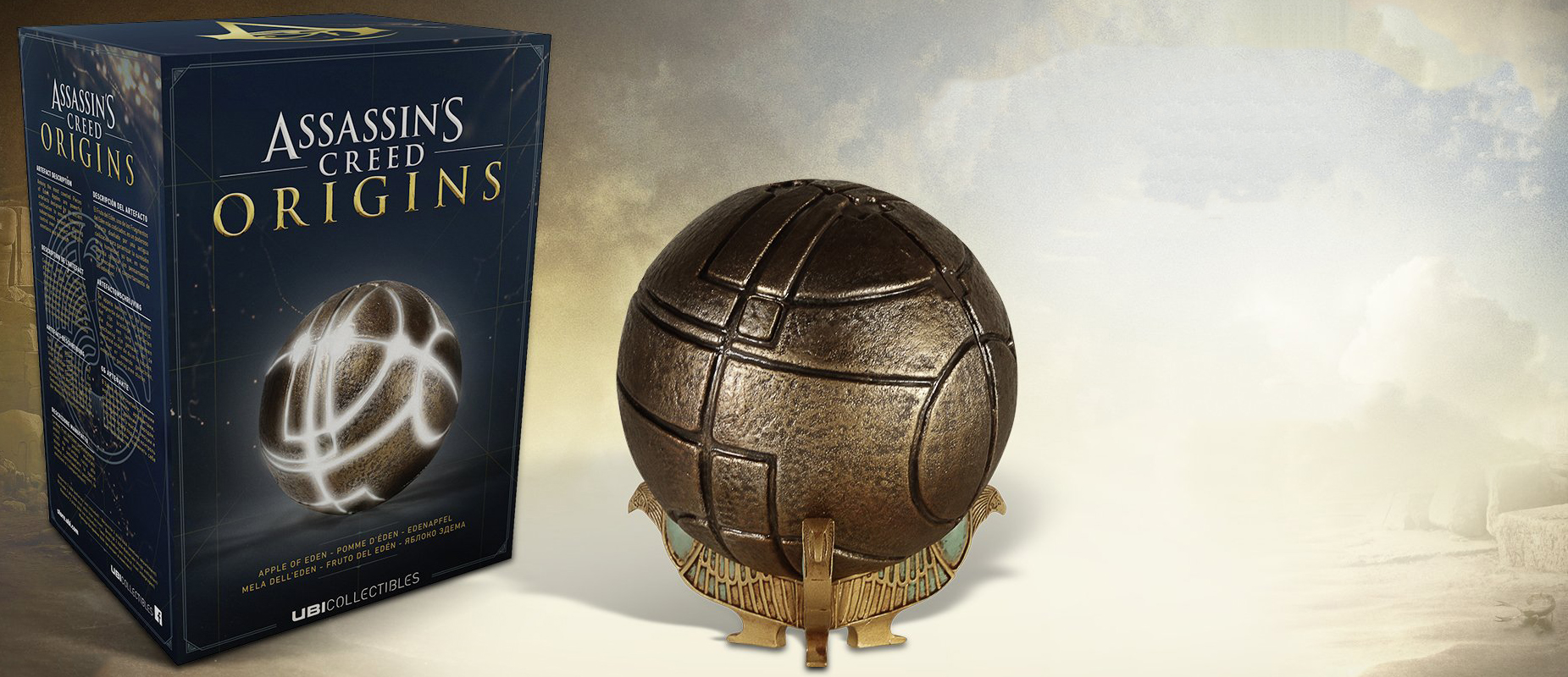 Assassin/'s Creed ORIGINS Apple of Eden with Led System and Base UBISOFT in Box