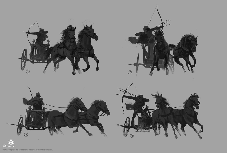 martin-deschambault-aco-bayek-iconic-pose-chariot-sketches-mdeschambault