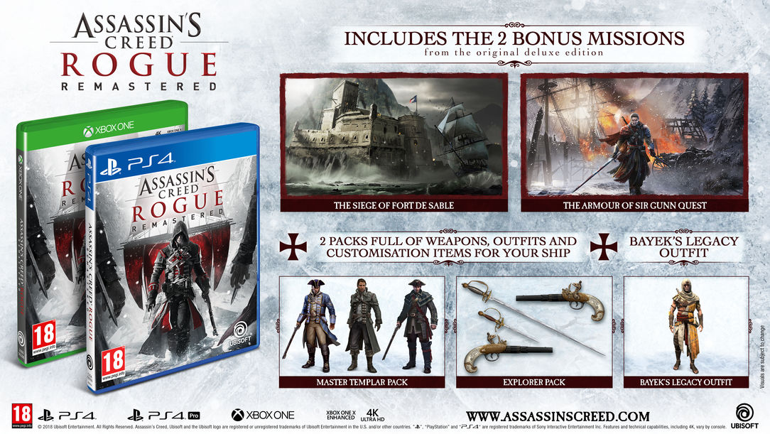 Codex Assassin S Creed Rogue Remastered Announced