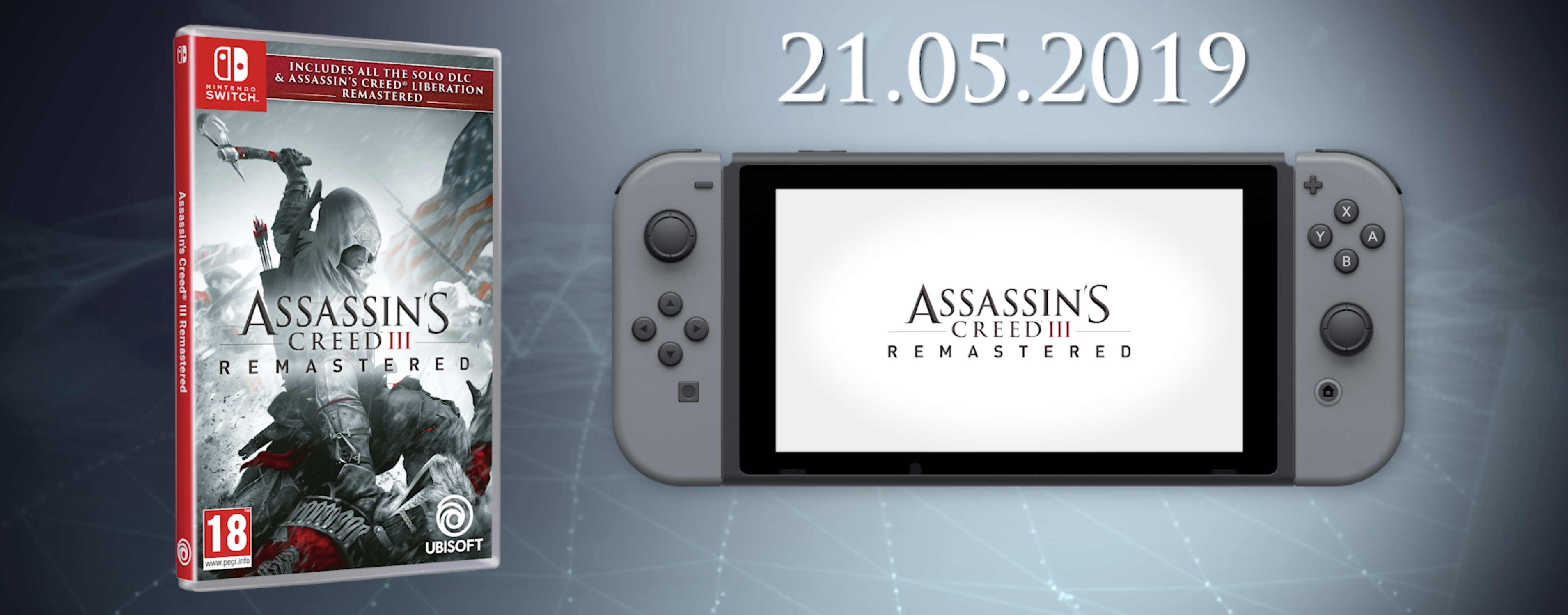 Assassin's Creed III + Liberation Remastered Coming to Nintendo Switch in May!