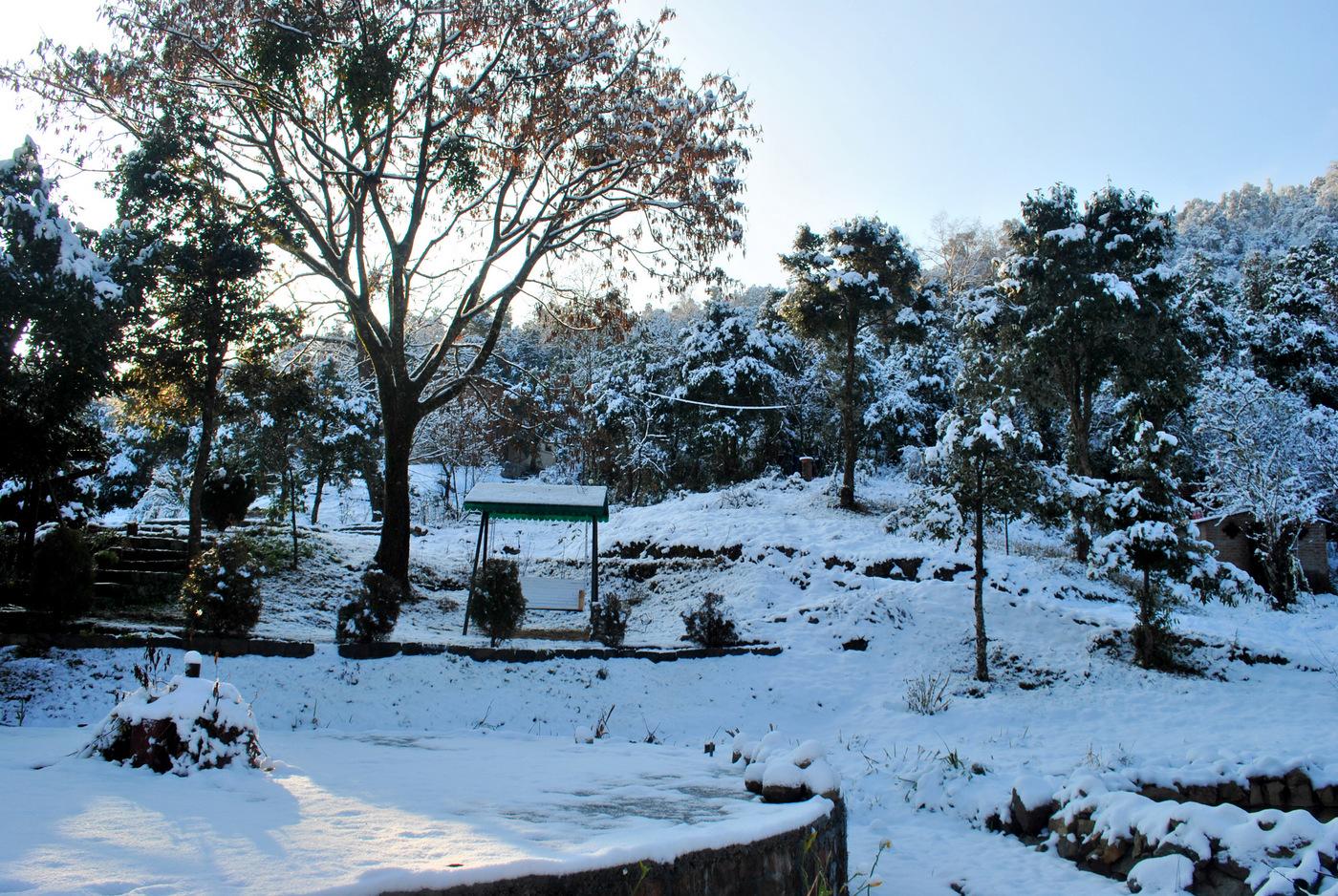 Snow Misty Mountains Jhaltola