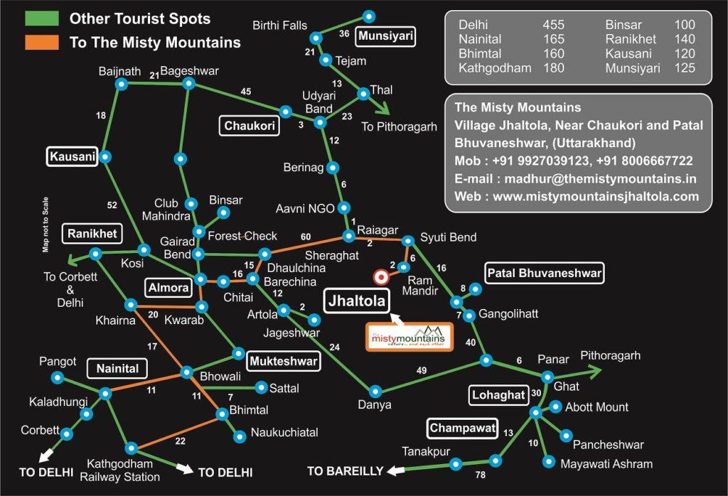 KumaonTourist Map