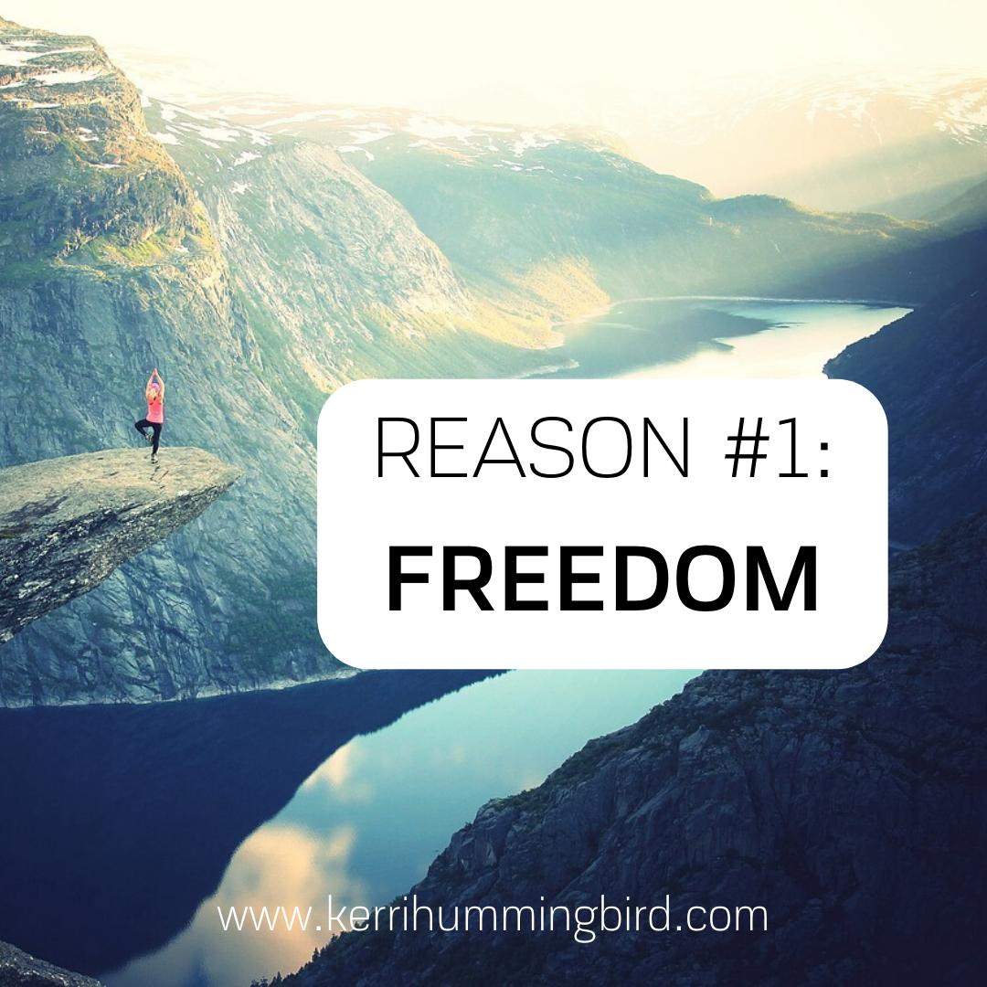 Reason #1: Freedom
