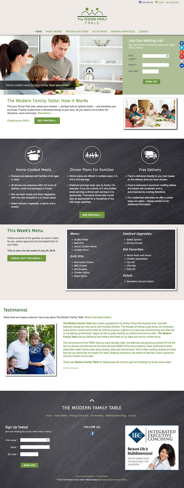 Local Meal Delivery Business Website