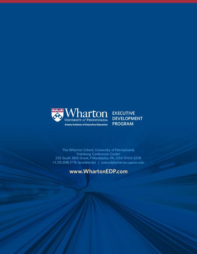 Brochure for Senior Executive Program
