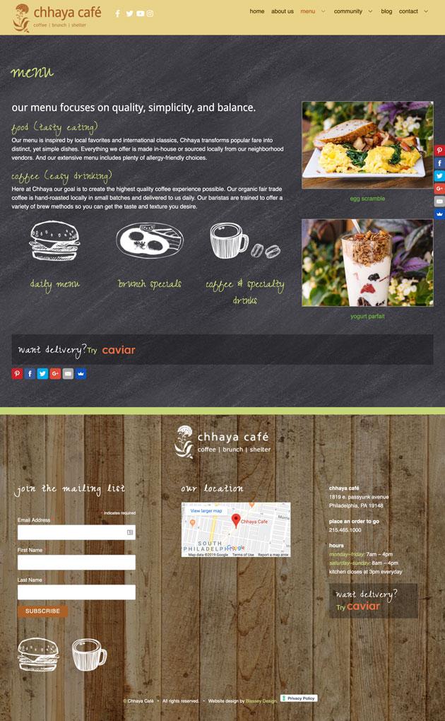 Café Website