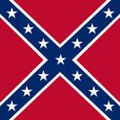 This image has an empty alt attribute; its file name is confederateflagone.png