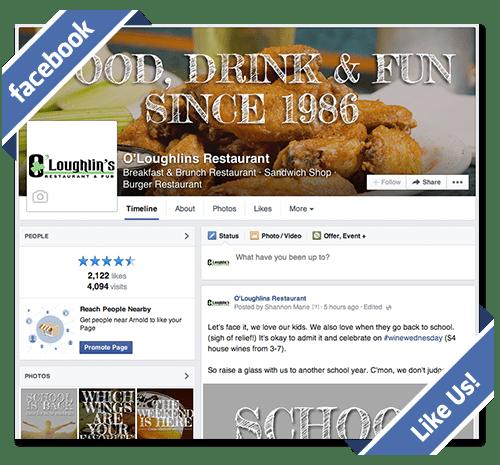 O'Loughlin's Facebook Arnold Restaurant