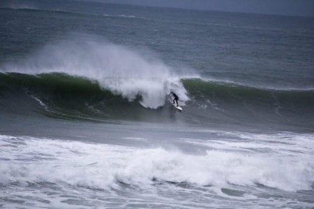 Surfing on the Irish coast