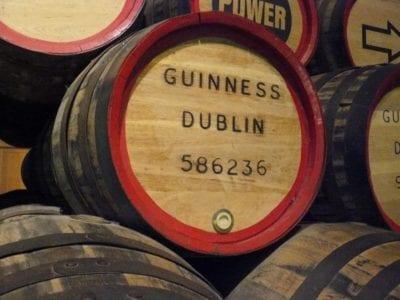 Guinness beer barrel