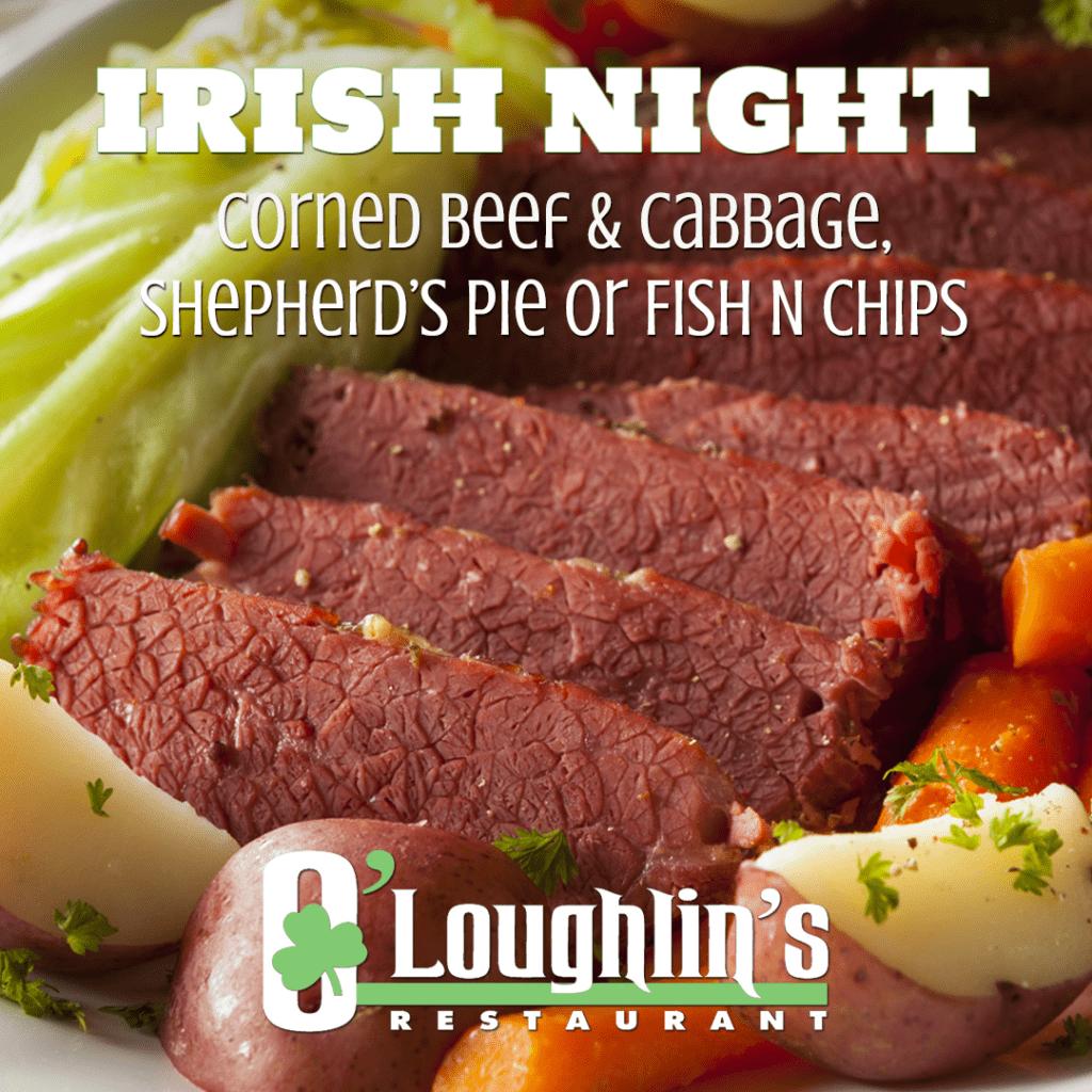 irish night specials