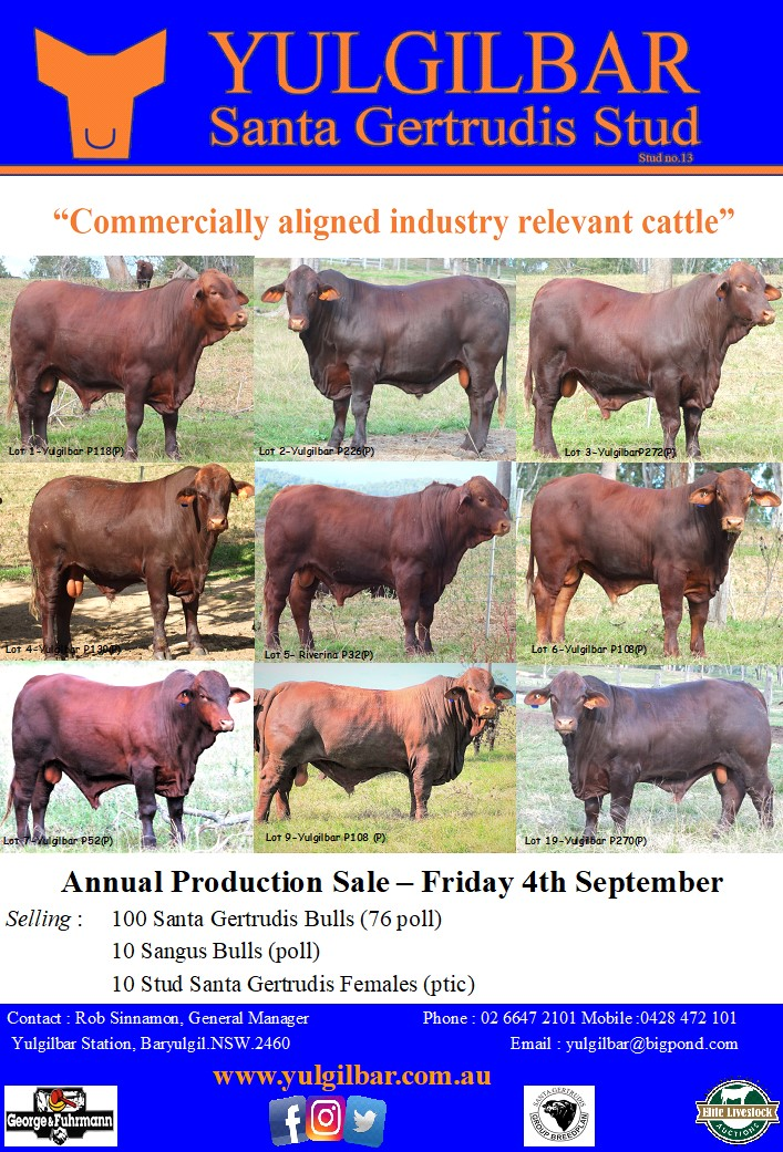 Yuliglbar Annual Production Sale Advert 2020