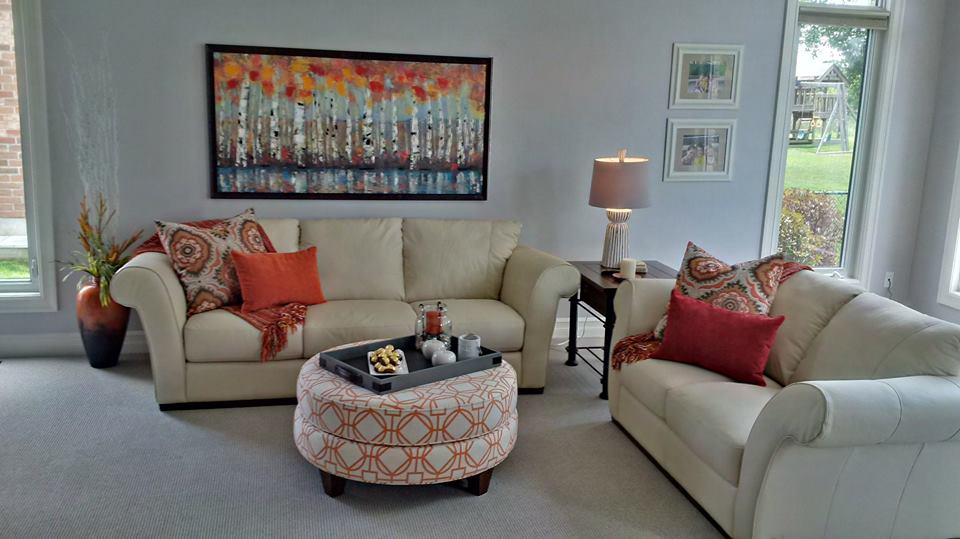 Interior Decorator To The Rescue! A Hectic Lifestyle, A Peaceful Home | a beautifully staged room | MatiDesign Interior Decorating And Home Staging London Ontario