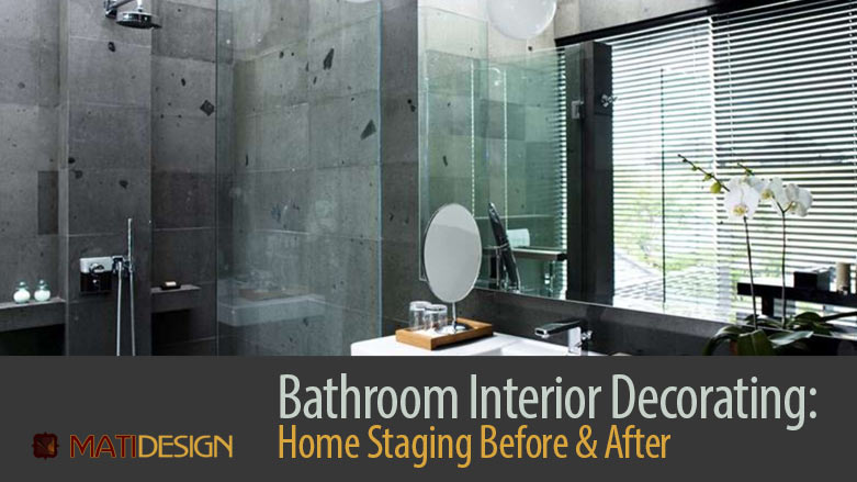 Bathroom Interior Decorating: Home Staging Before & After   Nicely Decorated Bathroom   MatiDesign Interior Decorating And Home Staging London Ontario