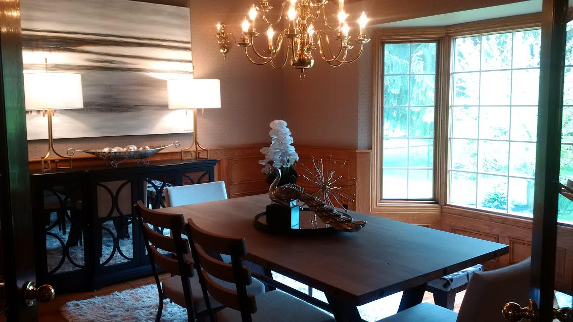 Why Does Home Staging Work? | dining room after staging | MatiDesign Interior Decorating And Home Staging London Ontario