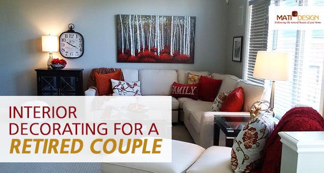 Interior Decorating For A Retired Couple | Mati Design | London Ontario Interior Decorator