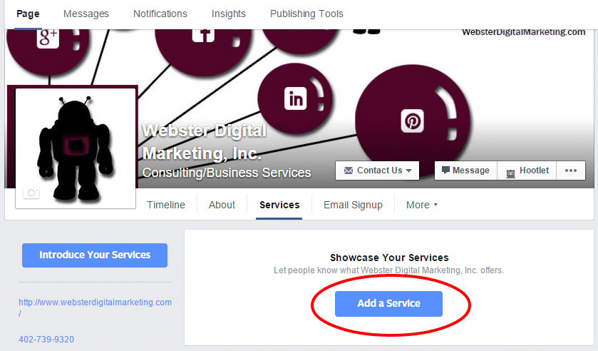 Click on the Add Service button.