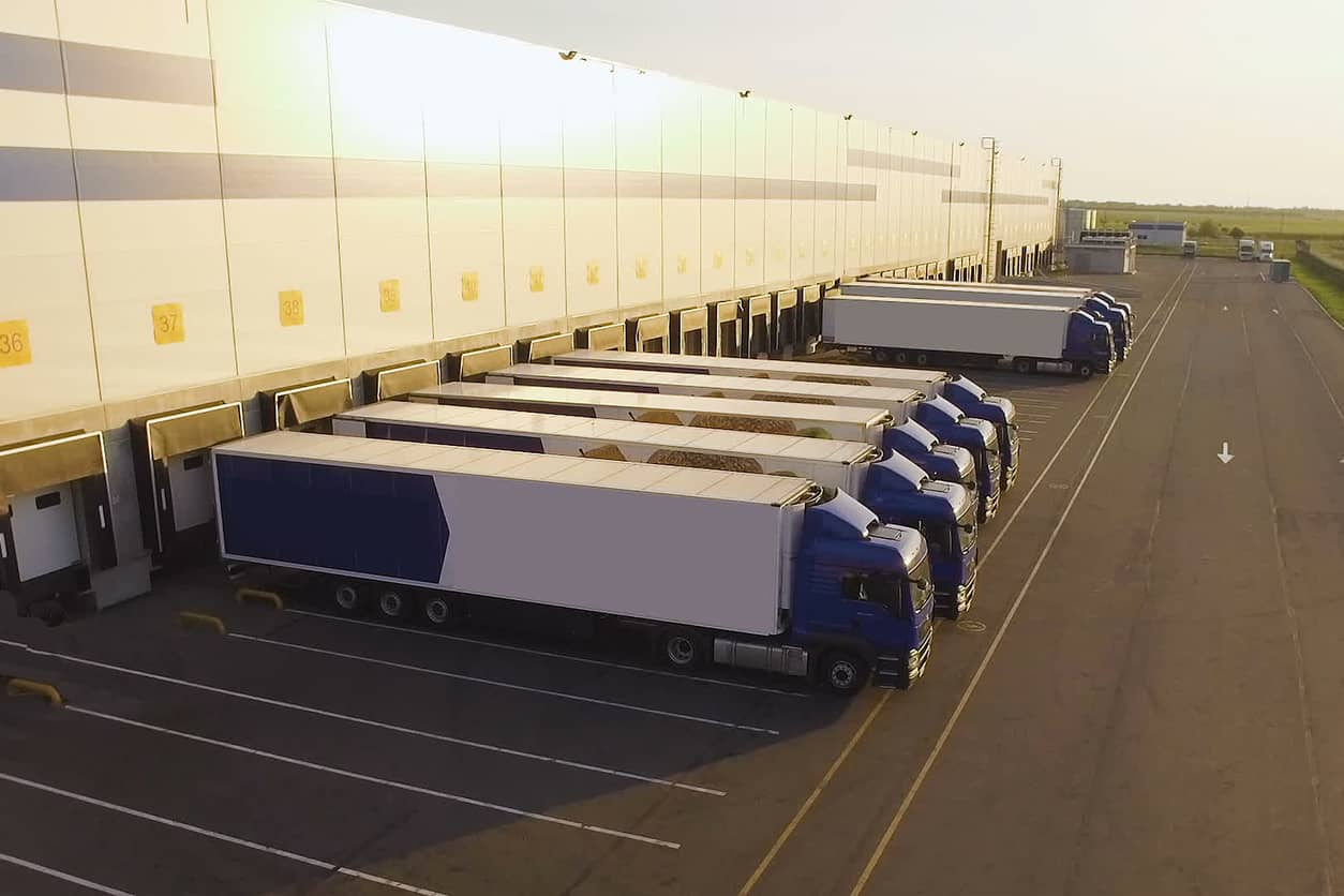 excess inventory in warehouse while trucks sit idle