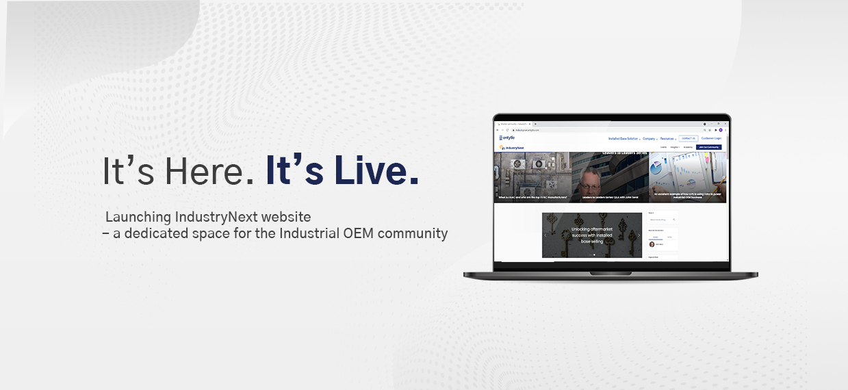 Entytle Launches IndustryNext website as a dedicated space for the Industrial OEM Community