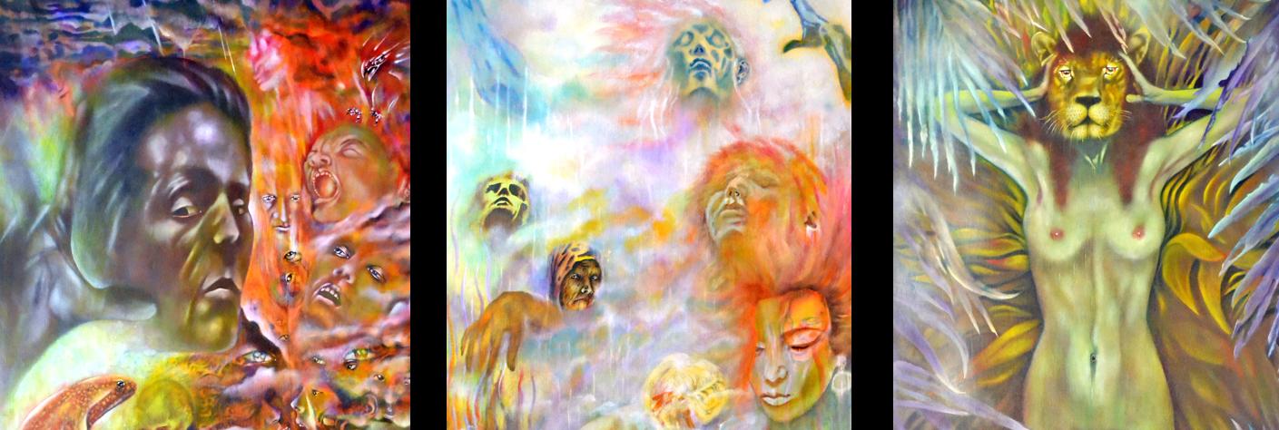 Minnesota artist painting three