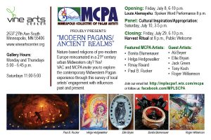 MCPA Postcard for Vine Show, art galleries
