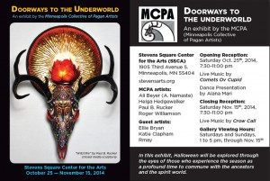 Doorways to the underworld/art opening, art galleries