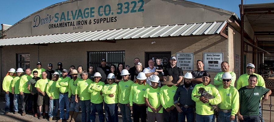 Employees of Davis Salvage a Metal Supply in Phoenix AZ