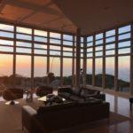 Prow House sunset interior