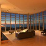 Prow House twilight interior