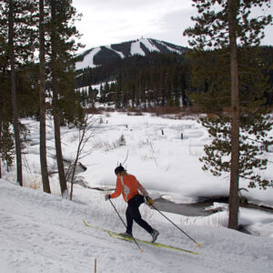 XC skiing the Fraser River Trail. Photo by Jeff Russell